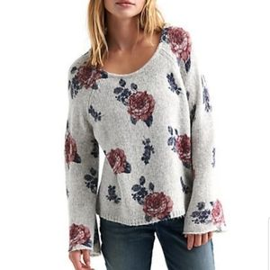 Lucky Brand Floral Sweater Pullover